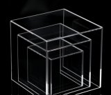 4 faces du Musée d'affichage acrylique Cube pour afficher
