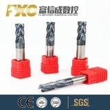 O carboneto de sólido Fxc 4 flautas desbaste fresa para o aço