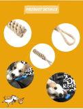 Giocattolo pastello materiale dell'animale domestico della corda del cotone del nodo del cotone del giocattolo di masticazione del gatto del cane