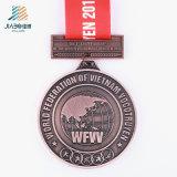 Medaglia antica in lega di zinco del trofeo dell'oro del rifornimento della Cina per la Russia