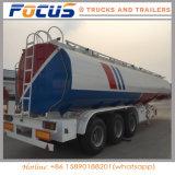 3 ejes 45000L de aceite del depósito de combustible de vehículos especiales camión remolque para venta