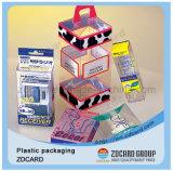Cadre se pliant de empaquetage de boîtes en plastique de montre de bijou d'étalage de cadeau de papier