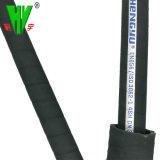 Heißer Verkauf bespritzt hydraulischer Manuli Standard Stahldraht-Spirale-hydraulischen Schlauch 4sh mit einem Schlauch