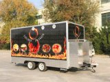 Trandaは食糧トラックに移動式食糧トレーラーをした