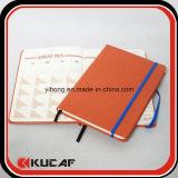 Cuaderno de encargo del libro del cuero de la marca de fábrica