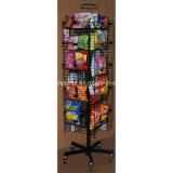 Piso Snack rotativa metálica Rack de Exibição de Alimentos (PHY1068F)