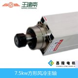 asse di rotazione asincrono a tre fasi di CNC raffreddato aria quadrata di 7.5kw 300Hz 18000rpm Er32