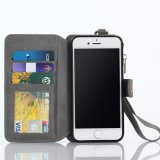 Caisse pliable de cuir de pochette de couverture de téléphone cellulaire pour l'iPhone 7