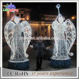 クリスマスの装飾3Dのモチーフの白い角度の彫刻の休日ライト