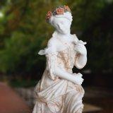 Mármore Natural Espeleologia Estátua feminina para Garden Ornament T-6972
