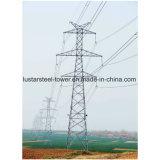 Linha de transmissão de alta tensão torre de aço da potência de Pólo