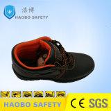 Черный кожаный чехол середины Вырезать защитную обувь