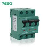Interruptor de PV fase 3 750V DC MCB mini-disjuntor