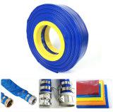 Luz azul de descarga de água de irrigação agrícola Layflat de PVC flexível