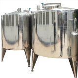 Serbatoio aperto della parte superiore polacca dell'acciaio inossidabile con il cunicolo di ventilazione