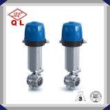 Клапан-бабочка нержавеющей стали Ss316 Wenzhou пневматическая санитарная