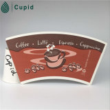 Hztl Custom Printed Logo Paper Cup FanまたはBody CoatedのPE Food Grade