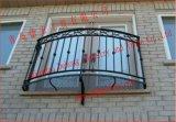 Cerca de la soldadura del hierro labrado del balcón o pasamano modificada para requisitos particulares de la aleación de aluminio