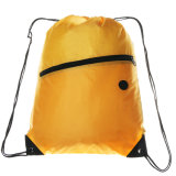 イヤホーンの穴が付いているポリエステルドローストリング袋
