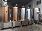 Equipo de la sacarificación de la cerveza, maquinaria comercial de la cervecería de la cerveza de cerveza dorada