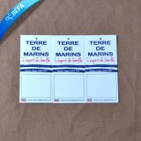 Klein Kraftpapier-Marke mit dem gelochten Loch kundenspezifisch anfertigen