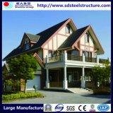 Casa pré-fabricada clara projetada moderna da construção de aço