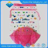 Custom couture en plastique transparent à fermeture à glissière Sac cosmétique transparente en PVC