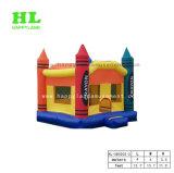 子供のための紫色の気高い小型城の膨脹可能な跳躍の警備員