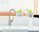 Upc brossé PVD Nickle tirez vers le bas du robinet de cuisine