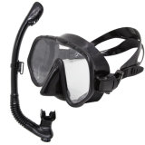 Lage Volume Black Adult Silicone Diving Masks en Snorkels met Ce Certificate (Sn-1000)
