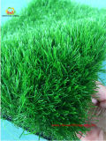 Profissional que ajardina a grama artificial de Syhtnetic da grama do jardim