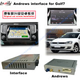 720p/2015年のフォルクスワーゲンとの1080P Rearview System Android Navigation Video Interface Compatible Passat、Nmc (Lamando)、Golf 7、Skoda