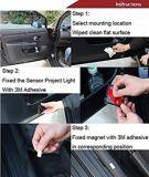 Ningún tipo de taladro inalámbrico láser LED coche de la luz de la sombra de la puerta de la bienvenida a la lámpara del proyector