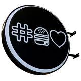 옥외 Signage 잘 고정된 LED 둥근 광고 Lightbox