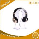 Le meilleur présentoir acrylique de vente d'écouteur avec l'organisateur de câble