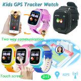 多彩なスクリーンD15が付いている三重の位置の子供GPSの追跡者の腕時計