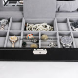 Ювелирные изделия из кожи подарочные коробки для хранения тары дисплей органайзера лоток
