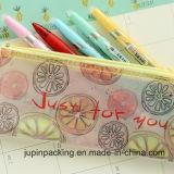 OEM 로고는 인쇄했다 PVC 플라스틱 지퍼 풀 의복 패킹 부대 (JP 플라스틱 002)를