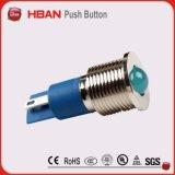 セリウムのRoHS IP65 12mm 12volt青いLEDの表示ランプ