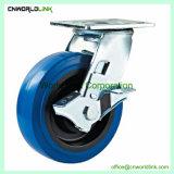 Carrinho de sólido azul elástica de borracha da Roda do Rodízio
