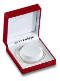 De Armband van de douane/de Verpakkende Doos van de Juwelen van de Gift van de Armband met de Blaar van het Fluweel