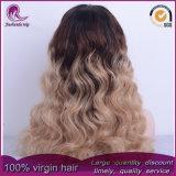 Parrucca piena del merletto dei capelli malesi dell'onda di acqua di colori di Ombre 3