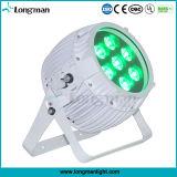 RGBWA UV 6in1 DMX 무선 단계 점화 LED 동위