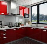 Polijst het Moderne Hoge Meubilair van Yijia MDF Houten Keukenkast