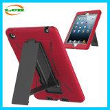 Doppia cassa variopinta del ridurre in pani di protezione di Silicone+Plastic con il supporto per iPad mini 4