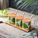 Conjunto determinado del tarro de la sal de los utensilios de cocina del hogar del tarro de cerámica nórdico creativo