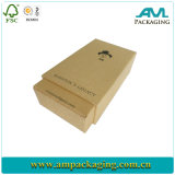 2 PC Kraft Gift Box Printed Black Logo para Tie