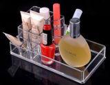 Visualización cosmética del lápiz labial de clavo del polaco del maquillaje de acrílico claro de Skincare