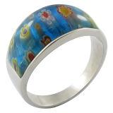 Traje joyas anillos de piedra de flores
