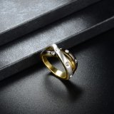 De echte Goud Geplateerde Ontwerpen van de Ring van de Vinger van Juwelen Recentste Gouden voor Meisje
